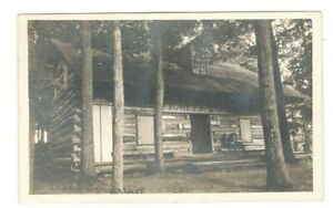ADVERTISING POSTCARD  PIONEER CABIN  SILVER LAKE ASSEMBLY NY 1911  PHOTO RPPC