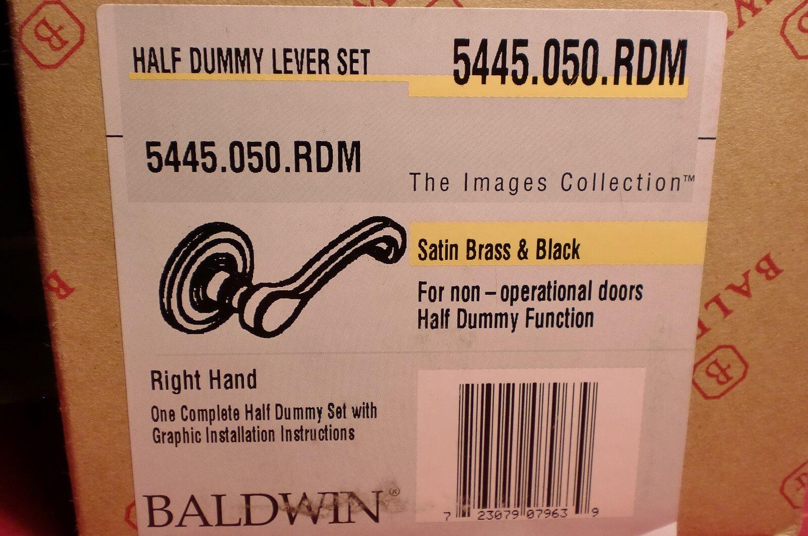 Baldwin Baldwin Baldwin 5445.050.RDM Massives Messing Türknauf Lebenszeit Satin & Schwarz | Das hochwertigste Material  22408b