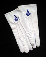 Mens Masonic White Stretch Nylon Dress Gloves Slip-On (MAS-GLN)
