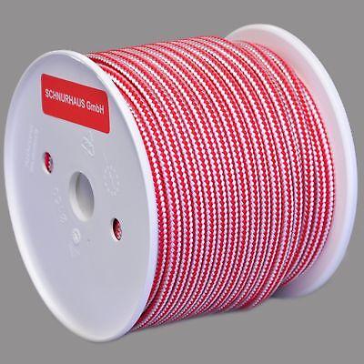 6mm PP Seil 50m schwarz-weiß Tauwerk Flechtleine cord rope Schnur von SCHNURHAUS