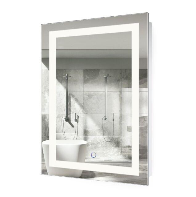 Krugg Led Bathroom Mirror 24 Inch X 36 Inch Lighted Vanity