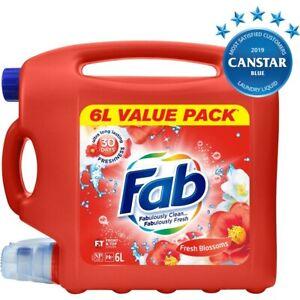 Fab Liquid Laundry Detergent 6L - Fresh Blossoms