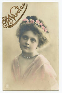 c 1909 Glamour PRETTY LITTLE GIRL child children rppc photo postcard