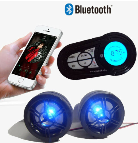 Bluetooth Wireless Speakers Audio Sound System Stereo MP3 Radio ATV UTV Scooter