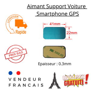 Plaques Métal Téléphone Pad Adhésif pour Aimant Voiture Support Smartphone GPS