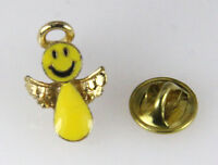 6030272 Happy Smiley Face Angel Lapel Pin Christian Tie Tack Brooch Don't Worry on sale