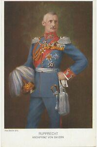 BAYERN ca. 1910, seltene farbige Kab.-AK KRONPRINZ RUPPRECHT VON BAYERN.