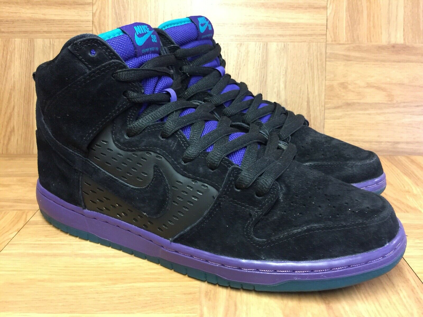 RARE Nike Dunk High Pro SB Black Grape Premium Ice Emerald Black 11 313171-027