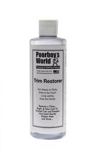 Poorboys Trim Restorer for Plastic Car Bumper Vinyl Rubber Interior Exterior