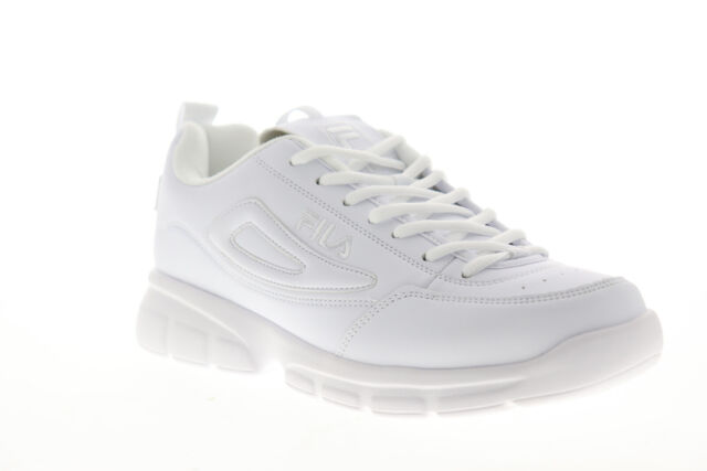 Fila Disruptor SE 1SX60022 100 Mens White Synthetic Low Top Sneakers Shoes