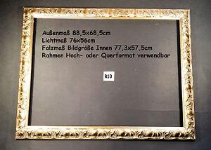 Schoner-klassischer-Gold-Bilderrahmen-88-5x68-5cm-Spiegelrahmen-Vintage-R10