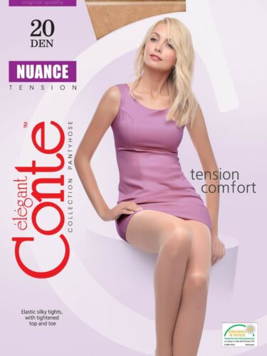 LOT of 3 Packs Women/'s Tights CONTE High Quality NUANCE 20 Den S M L XL XXL