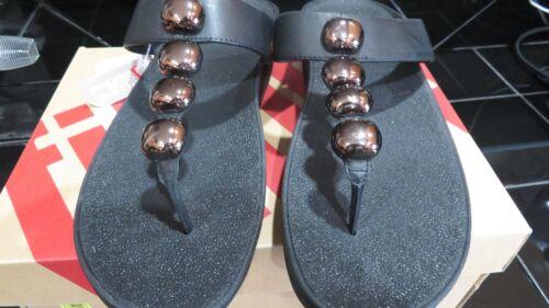 Rola Fitflop Accents 11 Wbronze Decorative Wmn Taglia Sandali Black infradito Toe A54RLj