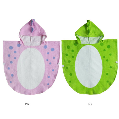 Baby Infant Dinosaur Hooded Bath Robe Beach Hooded Towel Sleep Wrap Blanket US