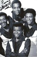 A 6 x 4 inch photo featuring the Imperials, personally signed by Little Anthony