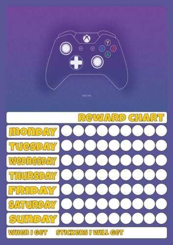 XBOX Réutilisable Reward Chart Inc Stickers /& Stylo Bon comportement pot