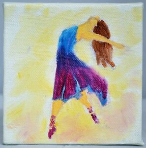 Ballerina Mini Watercolor Painting Gallery Canvas Contemporary Artist 2000Now - <span itemprop=availableAtOrFrom>Wellington, United Kingdom</span> - Ballerina Mini Watercolor Painting Gallery Canvas Contemporary Artist 2000Now - Wellington, United Kingdom