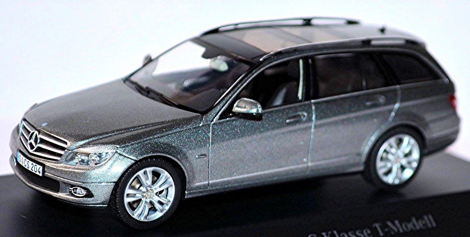 Mercedes Benz C-Classe Modèle T S204  - 2007-14 Palladium Argent Métallique  100% authentique