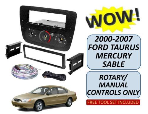 00 01 02 03 04 05 06 07 FORD TAURUS MERCURY SABLE CD CAR RADIO STEREO DASH KIT