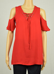 e81579f81bb574 Image is loading INC-International-Concepts-Womens-Red-Cold-Shoulder-Lace-