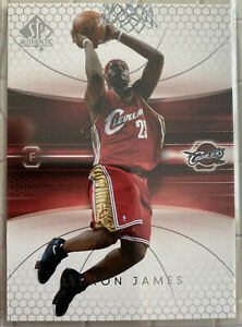 2004-05-SP-Authentic-Lebron-James-14-2nd-Year-Card-Cavaliers