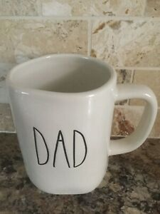 Rae-Dunn-DAD-Mug-Cup-By-Magenta-Ivory-Large-Letter-Farmhouse-Coffee-Tea-Rare