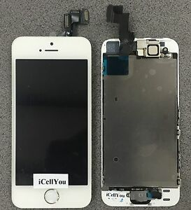 White LCD Touch Screen Display Digitizer Replacement Assembly For