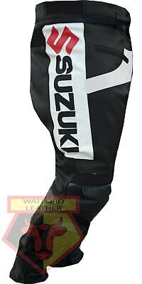 Suzuki Gsx Black Motorbike Motorcycle Cowhide Leather Armoured Pant/trouser Parts & Accessories