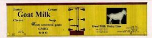 Wood-era-O-printed-pair-boxcar-reefer-sides-GOAT-MILK-DAIRY