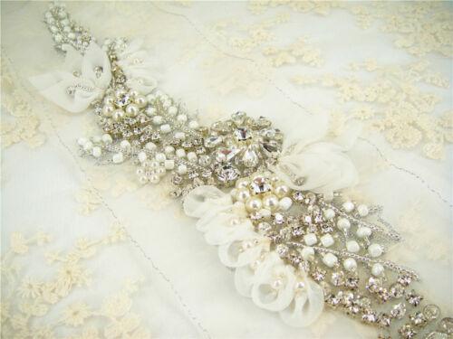 Apliques De Novia Con Adorno Diamante Estrás Perlas Boda Vestido de adorno