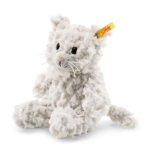Steiff 099274 Soft Cuddly Whiskers Katze hellgrau 18 cm incl Geschenkverpac<wbr/>kung