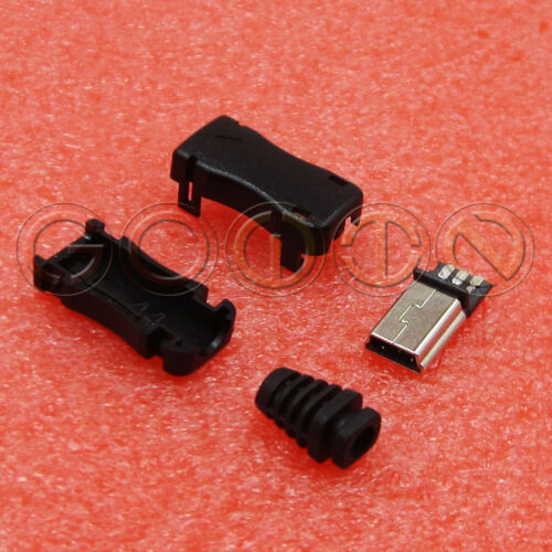 10Pcs Mini USB 5Pin Male Plug Socket Connector With Plastic Cover For Philips