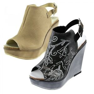 6b8a681cce63 Image is loading Womens-Ladies-Summer-Leather-Cushion-Comfort-Slingback-Mid-