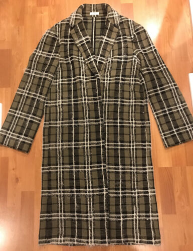 R/R Studio Green Patterned Duster Jacket One Size
