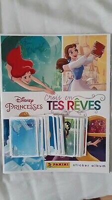LOT 10 pochettes packets  50 stickers Disney Princesse crois en tes rêves PANINI