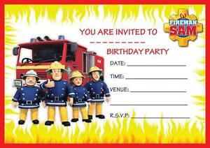 fireman sam boys birthday party invitations invites kids childrens