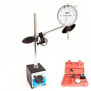 0 - 10mm Dial Indicator Gauge + Magnetic Base Holder + 0.01mm Resolution 747880237699