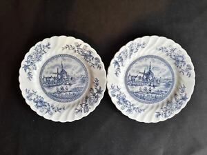 Johnson-Brothers-Tulip-Time-Set-of-2-Bread-amp-Butter-Plates