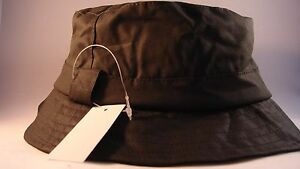 FISHING-LEISURE-COUNTRY-STYLE-HAT-OLIVE-WAX-BUSH-BACKET-SIZE-M-58CM