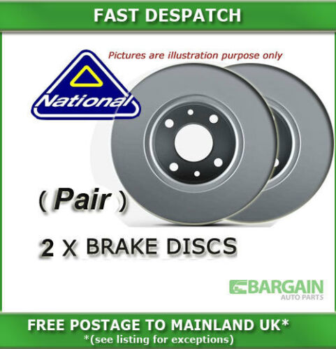 REAR BRAKE DISCS FOR MG MG TF 1.8 03//2002-05//2006 6175