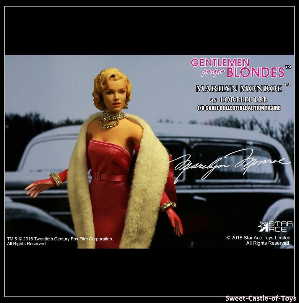 1 6 Star Ace Toys Gentlemen Prefer Blondes Marilyn Monroe Lorelei Lee Pink Ver