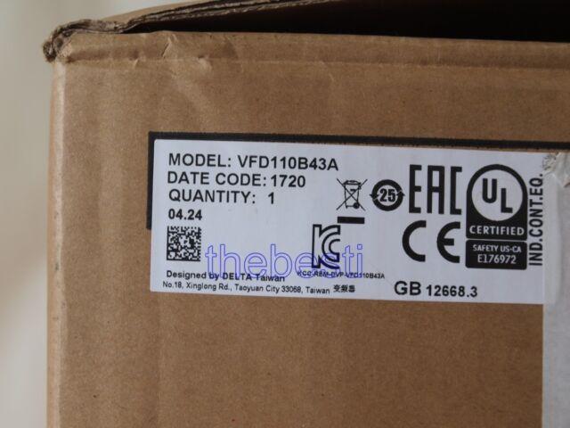 1 PC New Delta VFD110B43A Inverter In Box VFD110B43A