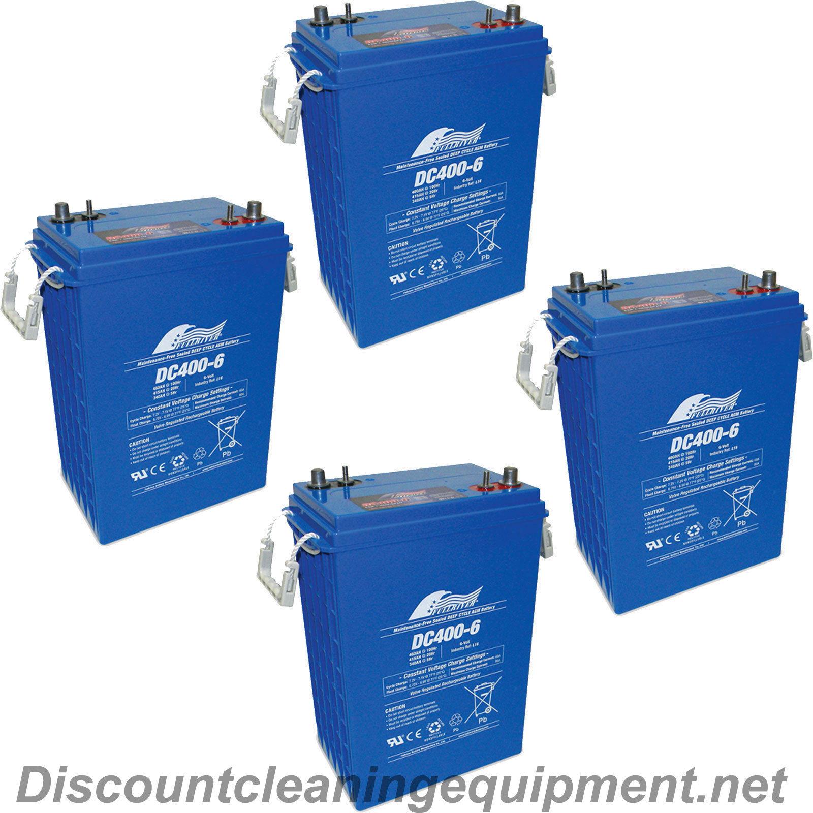 (4) Fullriver 903 L16 6V 415Ah AGM Sealed Lead Acid Battery DC400-6