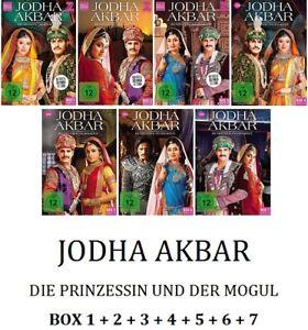 Jodha-Akbar-Die-Prinzessin-und-der-Mogul-Box-1-2-3-4-5-6-7-21DVD-NEU-OVP