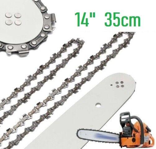 """Schwert Führungsschiene 14/"""" 35cm 2x Kette-Sägekette 0,325/"""" 1,5mm 58TG"""