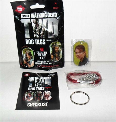THE WALKING DEAD SEASON 6 REGULAR DOG TAG D-RING SINGLE MAGGIE GREENE #21