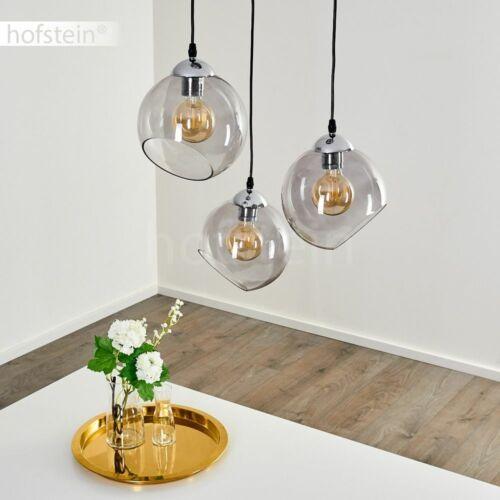 Pendel Leuchten Kugel Hänge Lampen Rauchglas Ess Wohn Schlaf Zimmer Beleuchtung