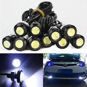 12V-10W-LED-Round-Car-Daytime-Running-Light-DRL-Head-Lamp-Eagle-Eye-White-Light