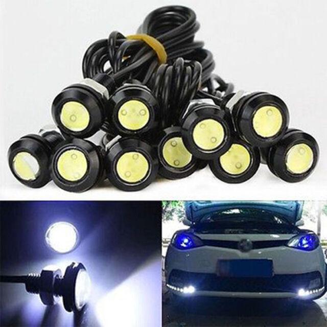 12V 10W LED Round Car Daytime Running Light DRL Head Lamp Eagle Eye White Color
