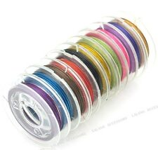 10x Colorful Unelastic Steel Beading Wire Cords DIY Jewelry Findings Tool L9